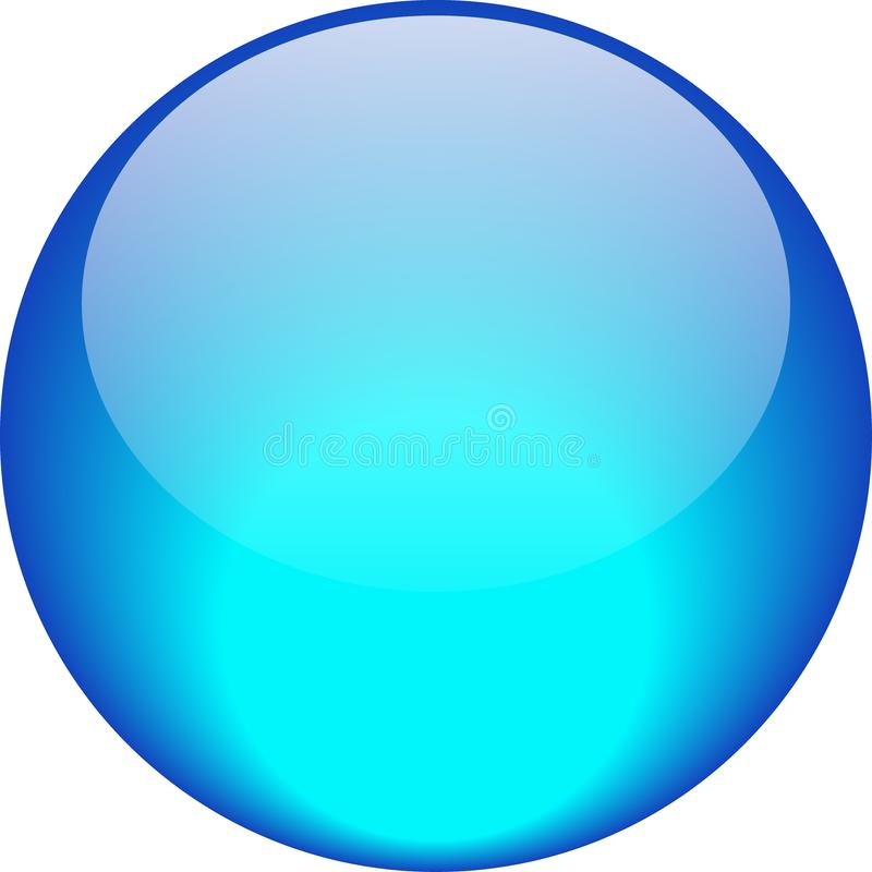 Bleu d'aqua de bouton de Web illustration stock