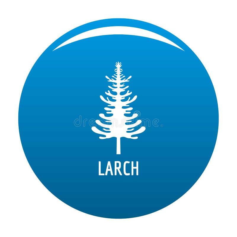 Bleu d'icône d'arbre de mélèze illustration de vecteur