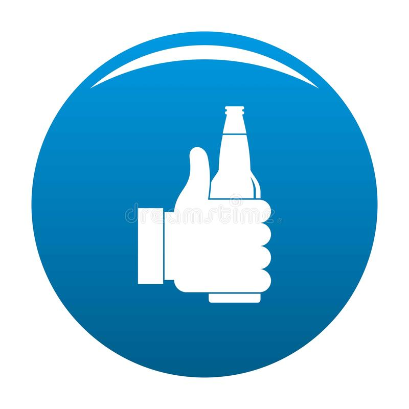 Bleu d'icône de bière illustration libre de droits