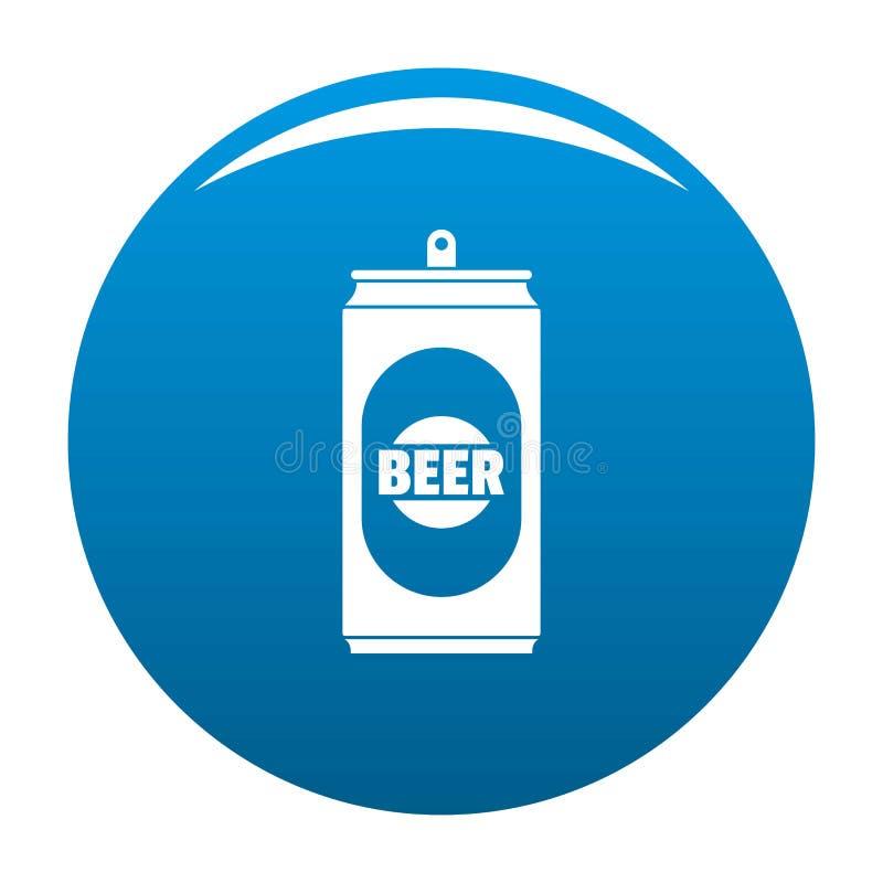 Bleu d'icône de canette de bière illustration libre de droits