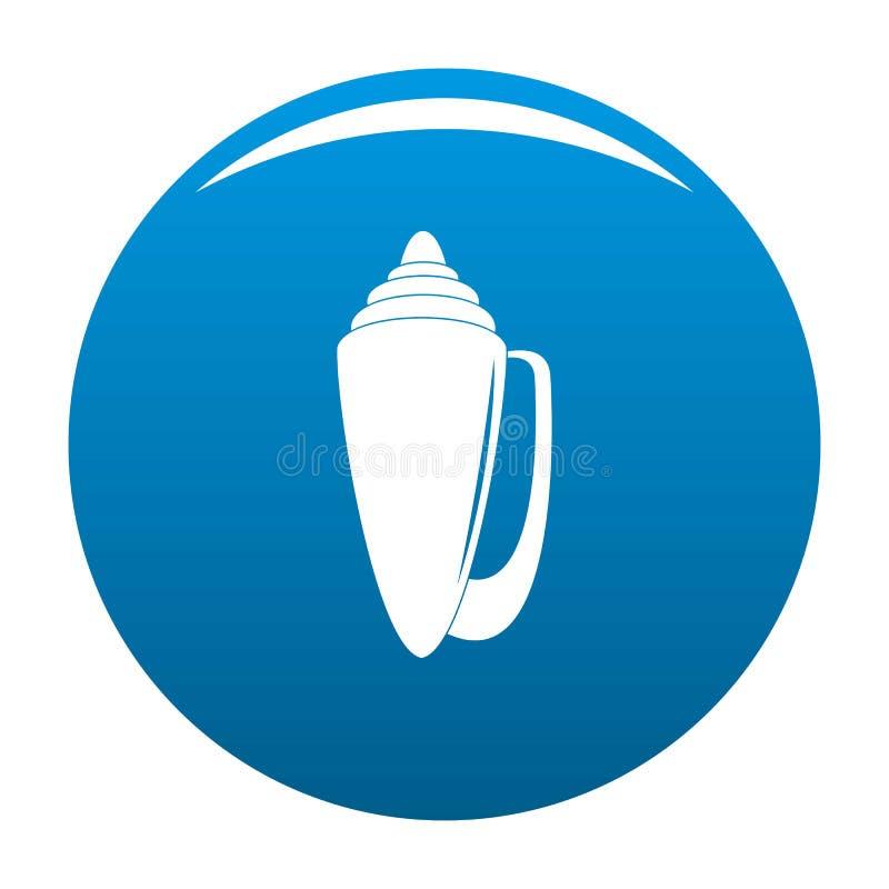 Bleu d'icône de Shell illustration de vecteur