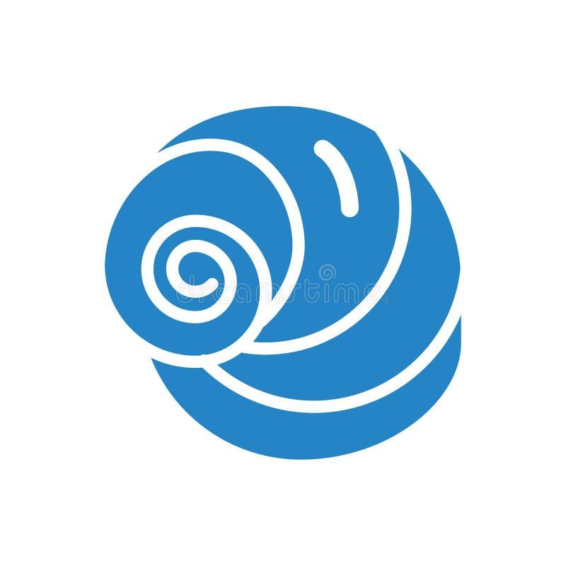 Bleu d'icône de Shell de mer sur le fond blanc pour le graphique et la conception web Signe simple de vecteur Symbole de concept  illustration de vecteur