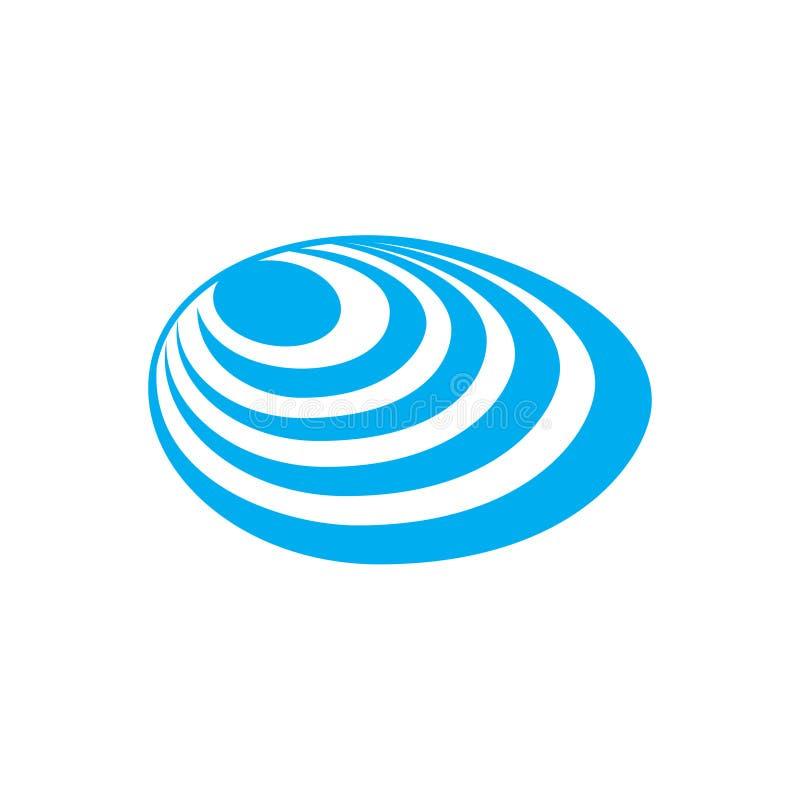 Bleu d'icône de Shell de mer sur le fond blanc pour le graphique et la conception web Signe simple de vecteur Symbole de concept  illustration stock
