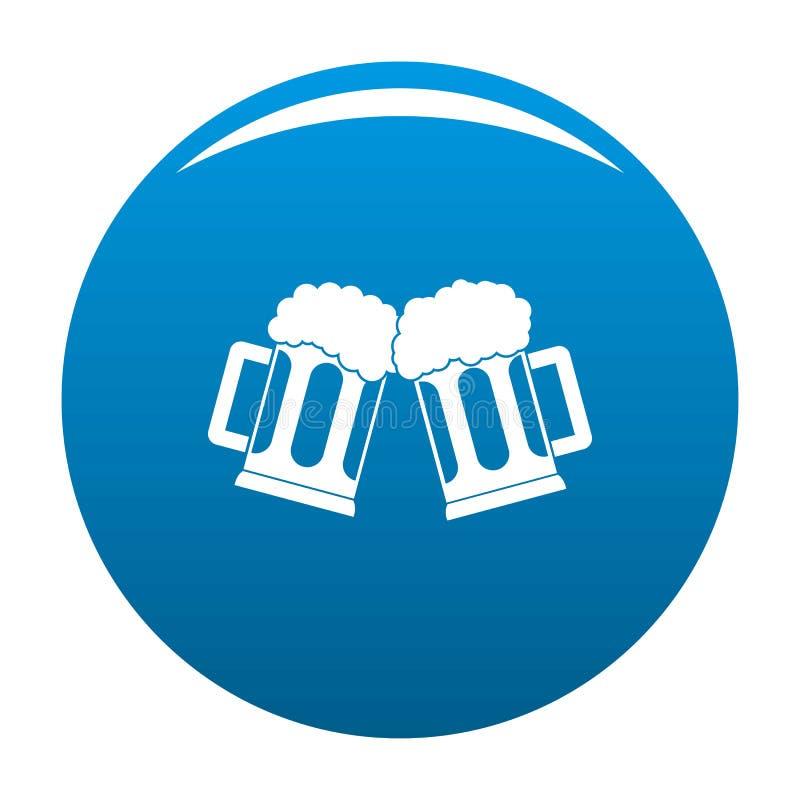 Bleu d'icône de tasse de bière illustration stock