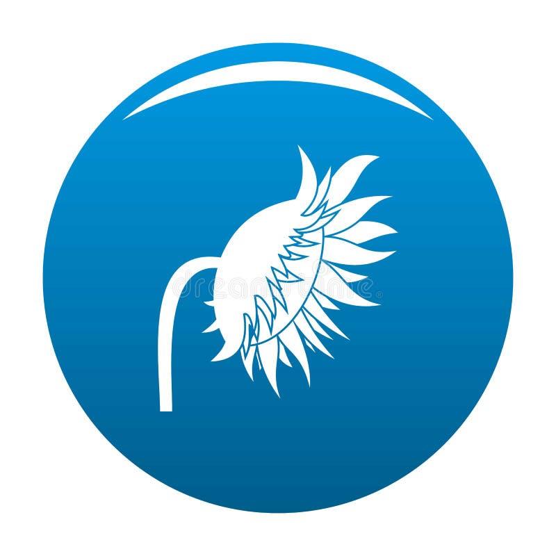 Bleu d'icône de tournesol illustration de vecteur