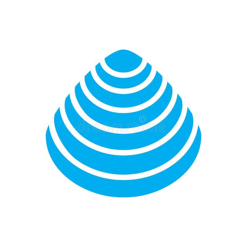 Bleu d'ic?ne de Shell de mer sur le fond blanc pour le graphique et la conception web Signe simple de vecteur Symbole de concept  illustration libre de droits