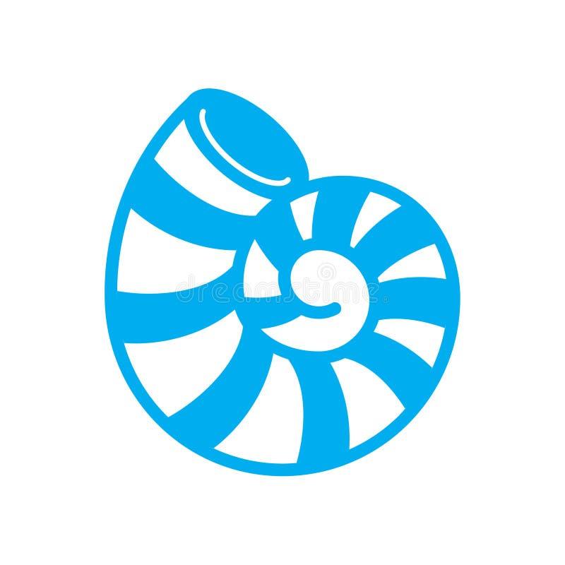 Bleu d'ic?ne de Shell de mer sur le fond blanc pour le graphique et la conception web Signe simple de vecteur Symbole de concept  illustration stock