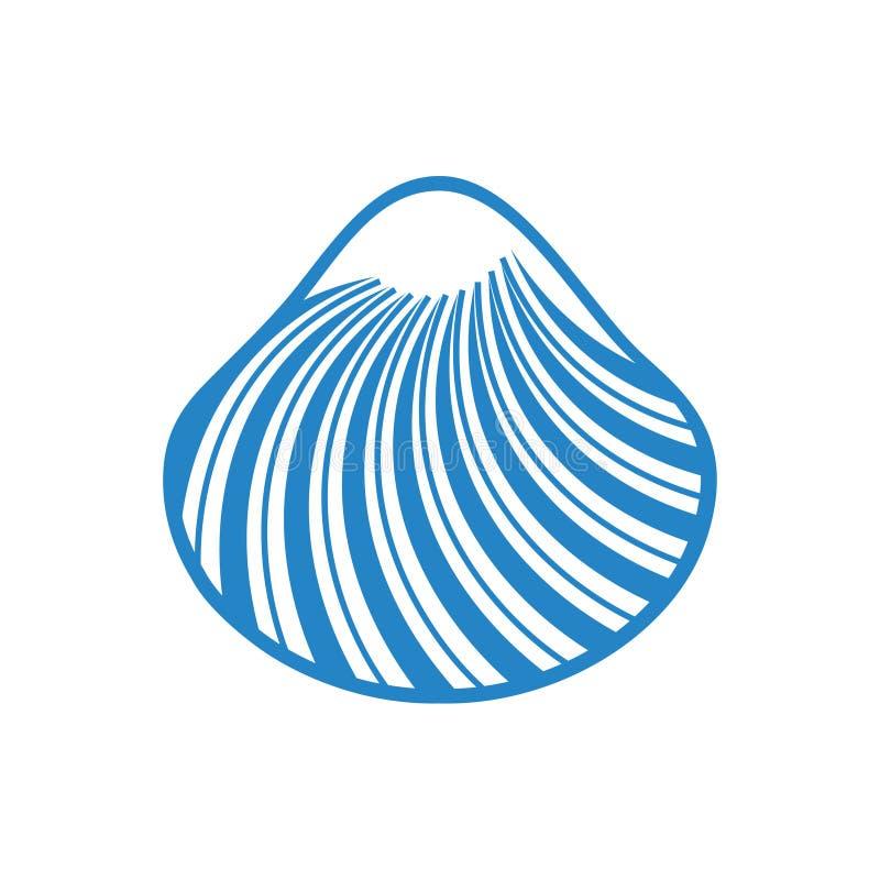 Bleu d'ic?ne de Shell de mer sur le fond blanc pour le graphique et la conception web Signe simple de vecteur Symbole de concept  illustration de vecteur