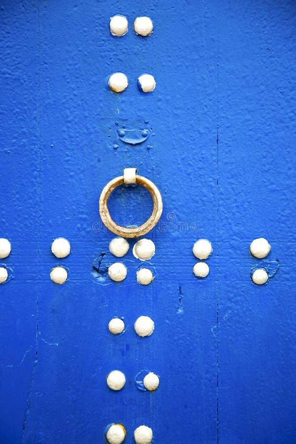 bleu dans le mur et l'abrégé sur de texture photographie stock libre de droits