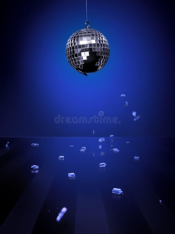 Bleu de bille de disco images libres de droits