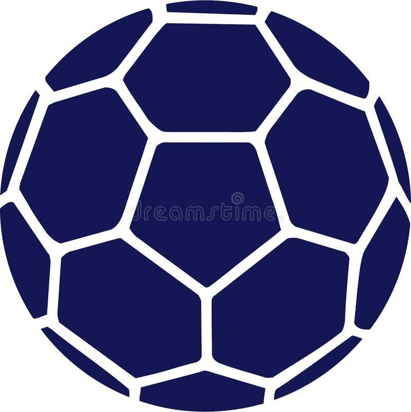 Bleu de boule de handball illustration libre de droits