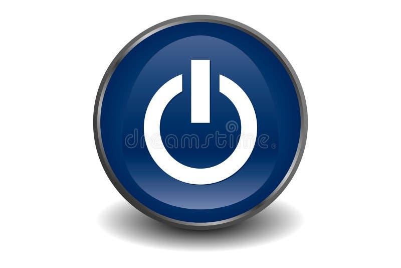 Bleu de bouton de pouvoir illustration stock