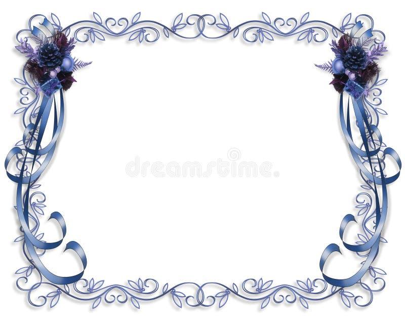 Bleu de cadre de Noël illustration stock