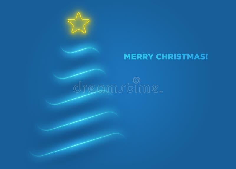 Bleu de carte de voeux de Noël illustration de vecteur