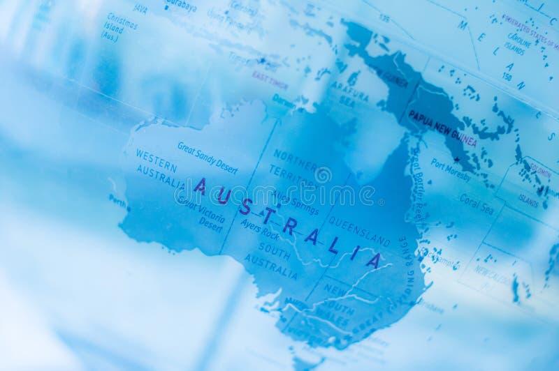 Bleu de carte du monde   technologie de la science photos stock