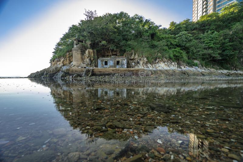 Bleu de ciel de mer du HK photo stock