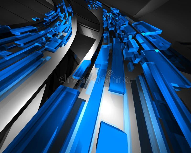Bleu de circulation de l'information illustration libre de droits