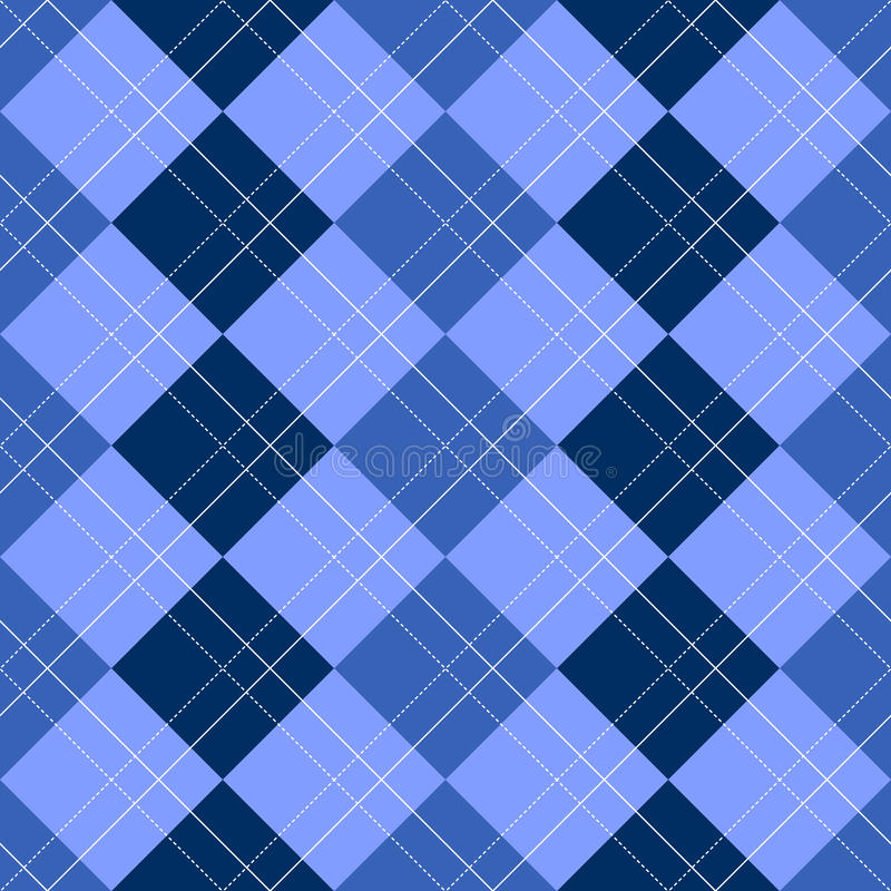Bleu de configuration d'Argyle illustration libre de droits