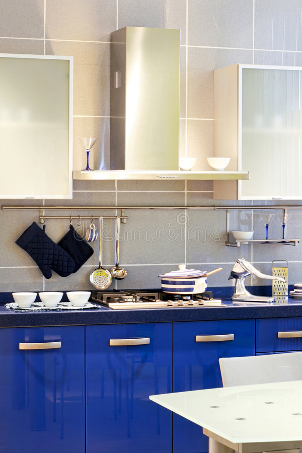 Bleu de cuisine image stock