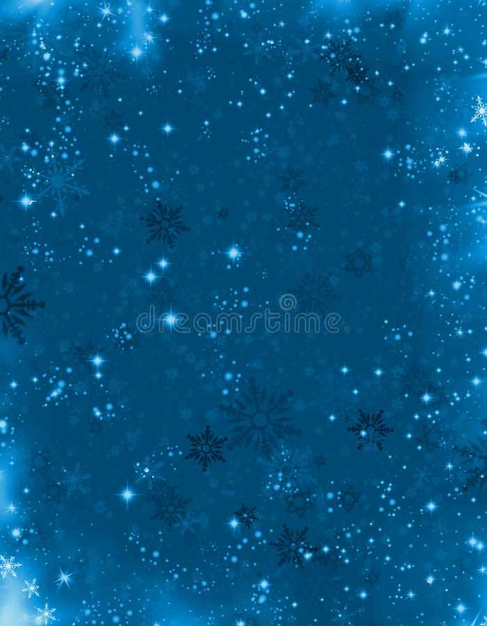 Bleu de fond de Noël illustration libre de droits