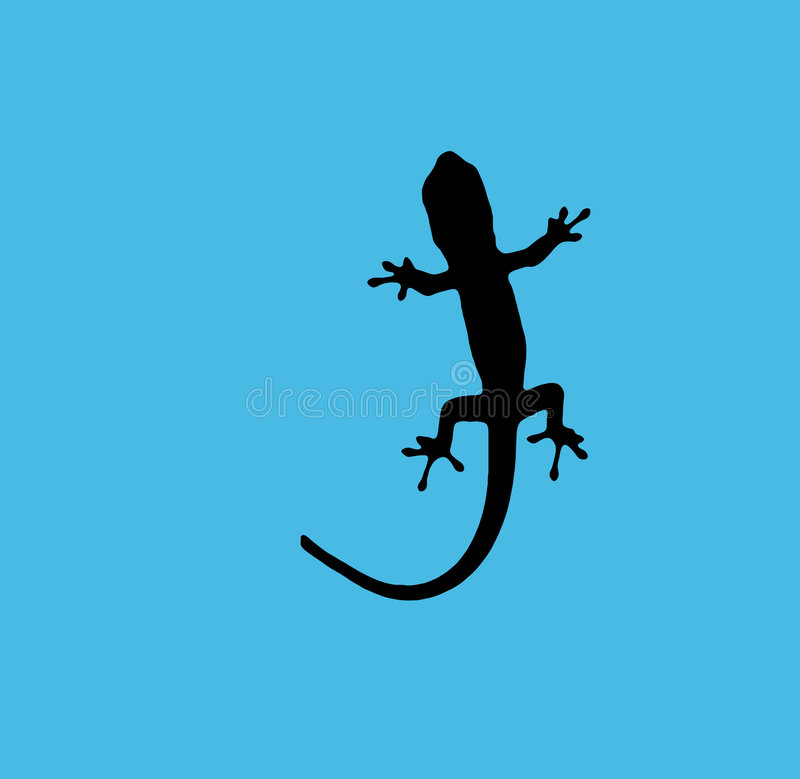 Bleu de Gecko illustration stock