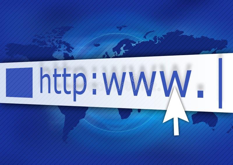 Bleu de HTTP illustration stock