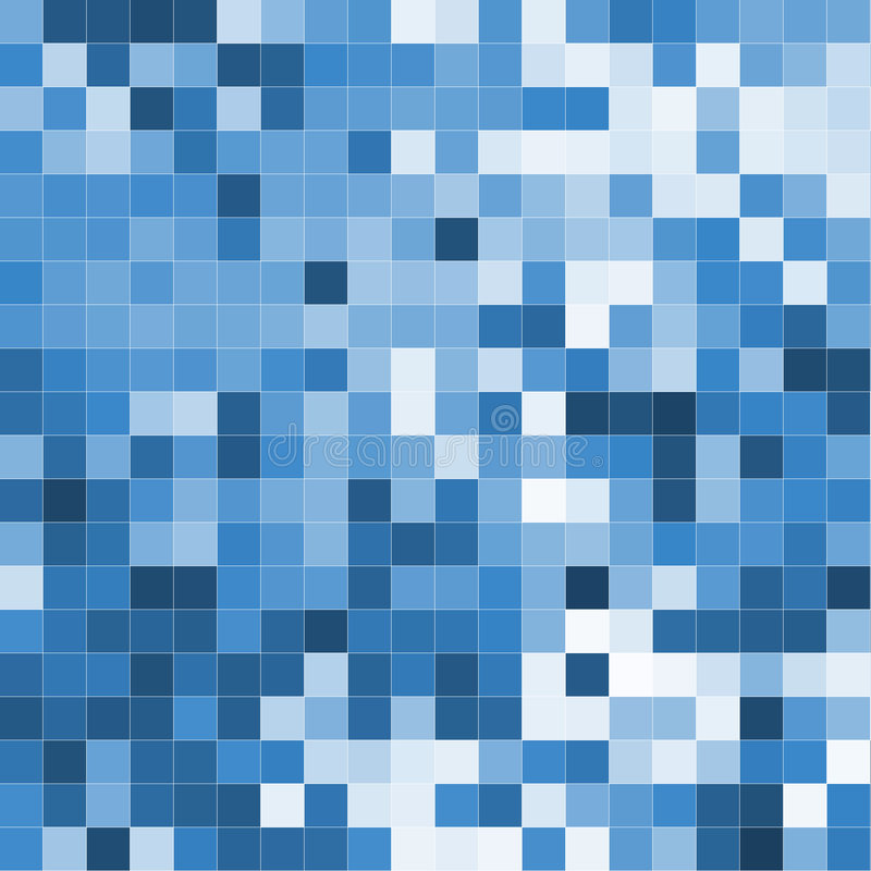Bleu de mosaïque illustration libre de droits