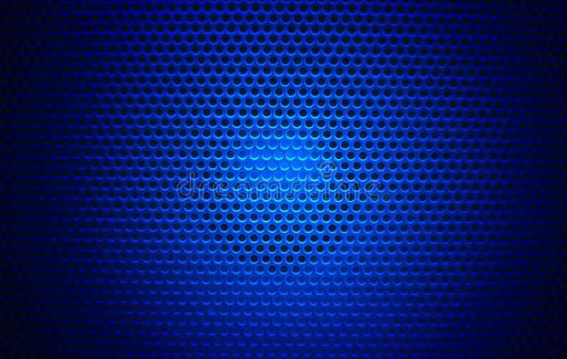 Bleu de noir de texture de gril de haut-parleur photos libres de droits