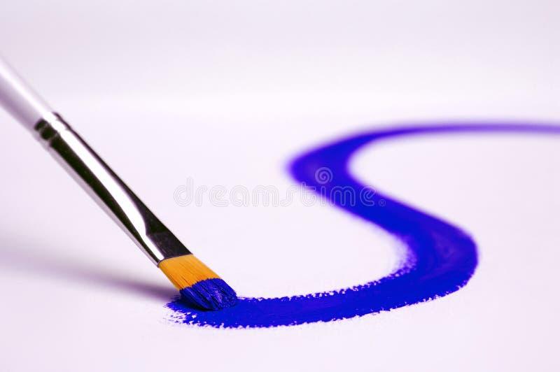 Bleu de peinture image libre de droits