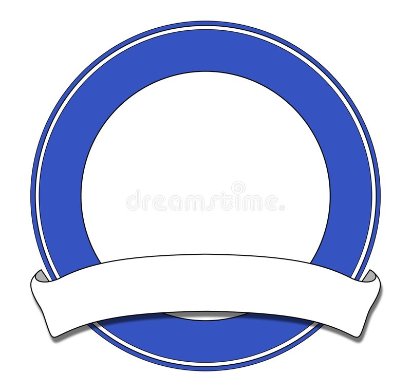 Bleu de plaque illustration libre de droits