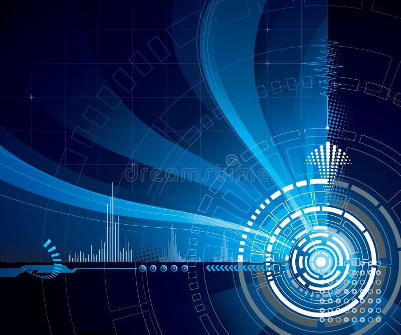 Bleu de technologie illustration de vecteur