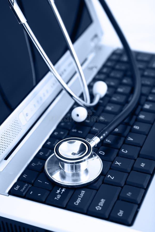 Bleu de technologie et de médecine images libres de droits