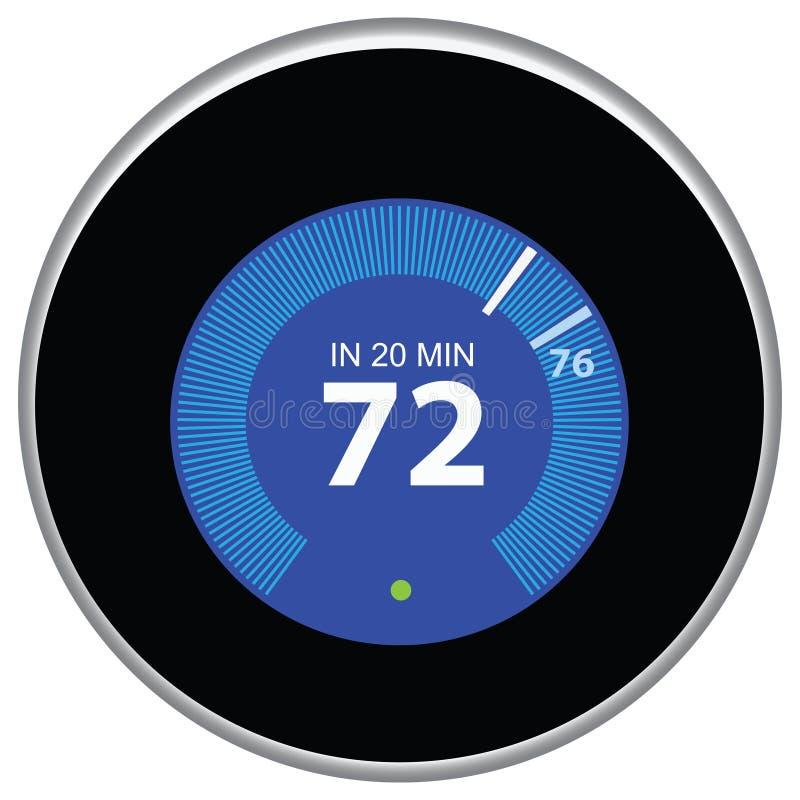 Bleu de thermostat de nid illustration stock
