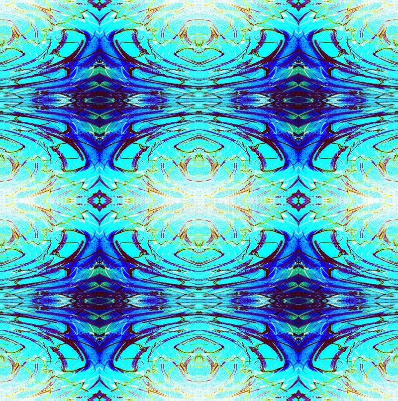 Bleu de turquoise régulier sans couture de modèle de diamant illustration de vecteur