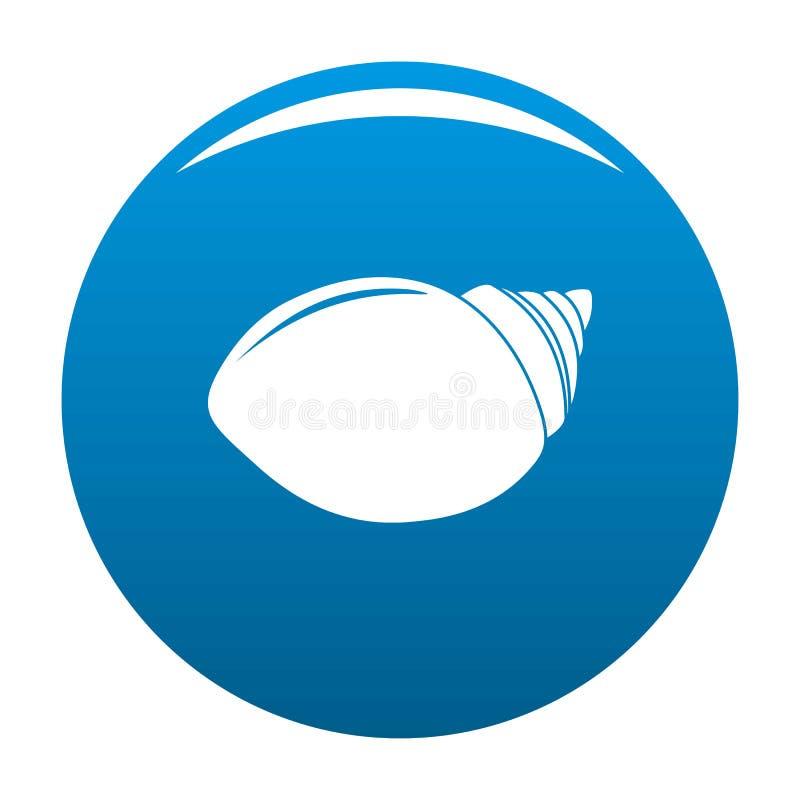 Bleu de vecteur d'icône de Shell de mollusques illustration de vecteur