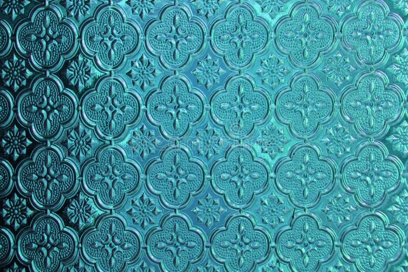Bleu, denim et verre tiffany de fond Vieux verre de vintage avec photos libres de droits