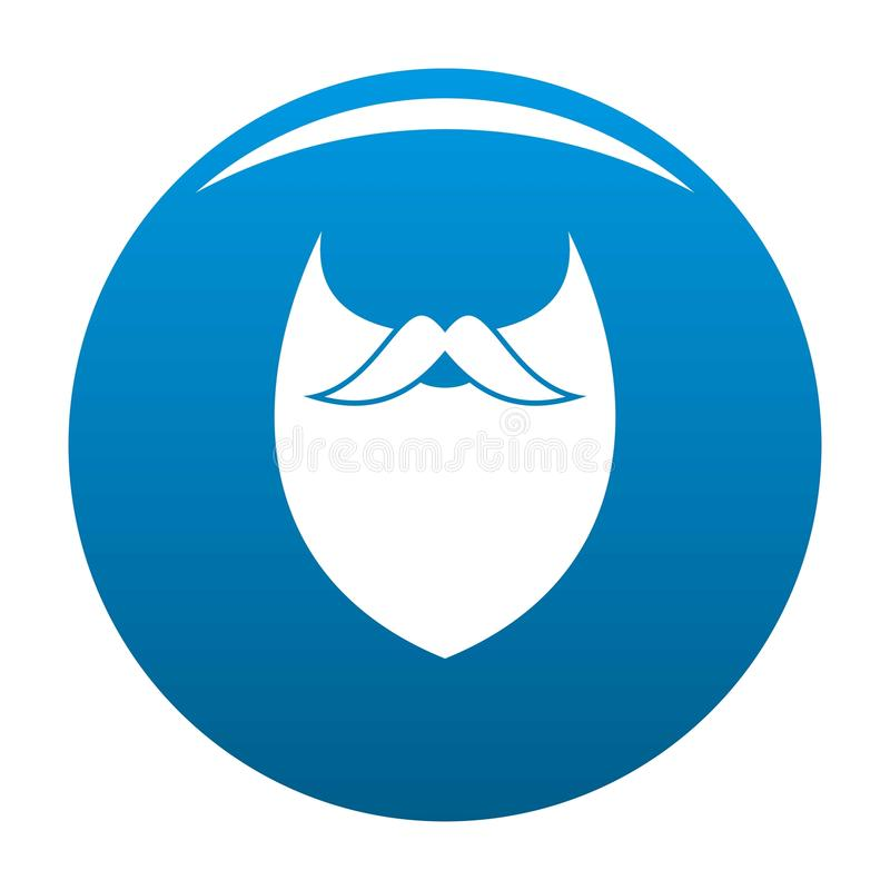 Bleu dense d'icône de barbe illustration de vecteur