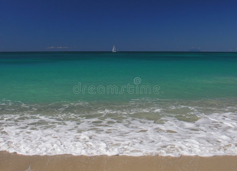 Bleu des Caraïbes image stock
