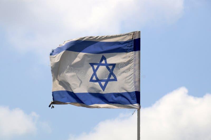 Bleu - drapeau israélien blanc image libre de droits