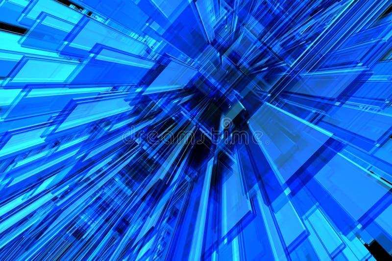 bleu du fond 3d illustration de vecteur