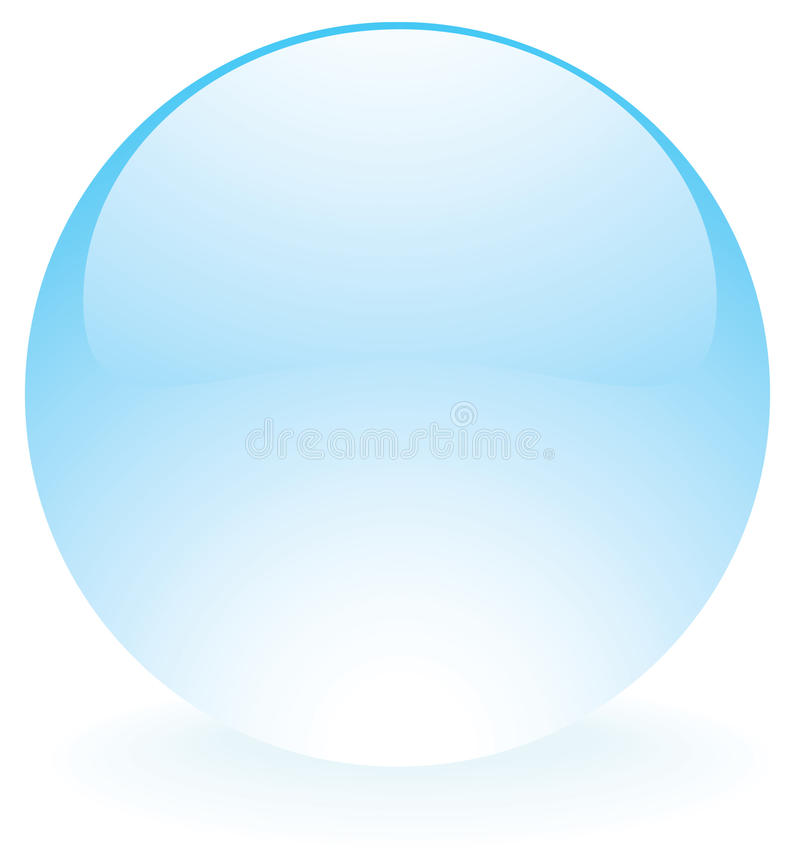Bleu en verre de sphère illustration libre de droits