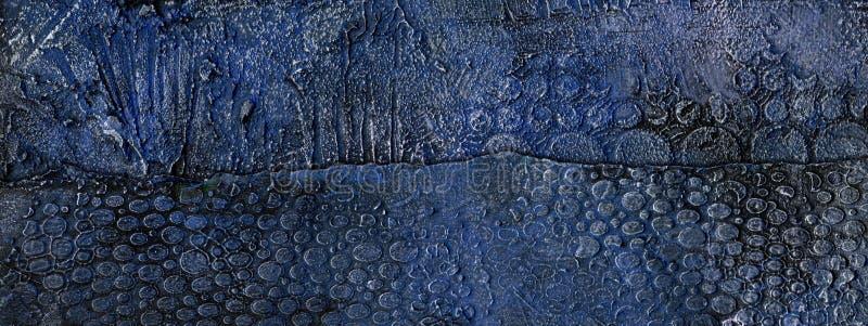 Bleu et fond de plâtre de relief par or illustration libre de droits