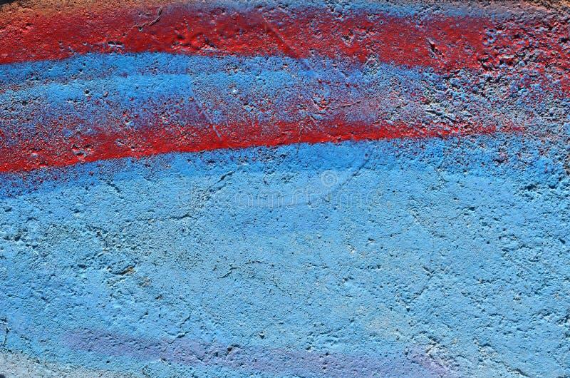 Bleu et fond peint par rouge images stock