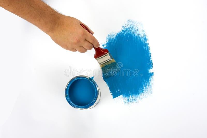 Bleu extérieur de peinture image libre de droits