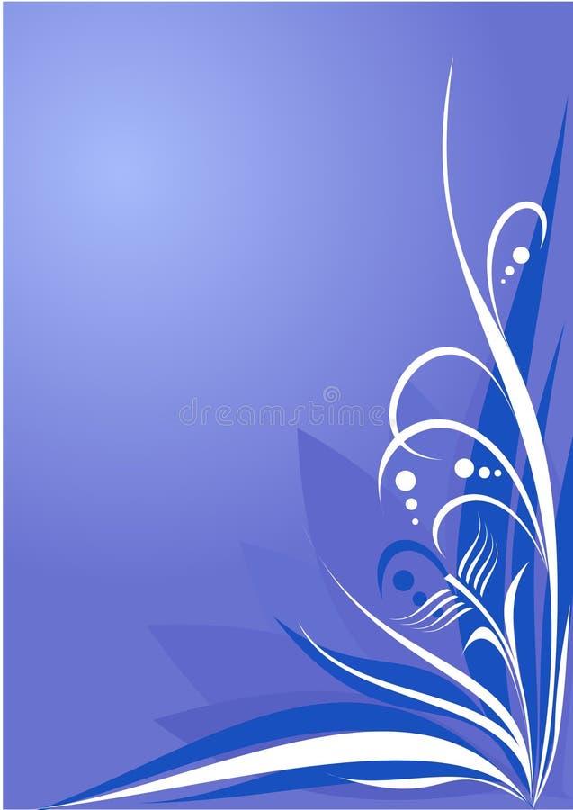 Bleu floral de fond illustration stock