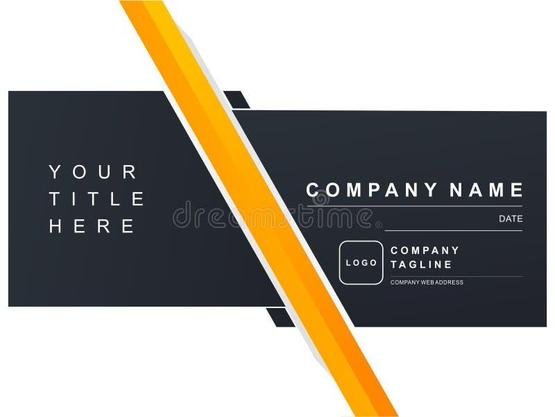 Bleu-foncé orange de marine de présentation de Luxury Company image stock