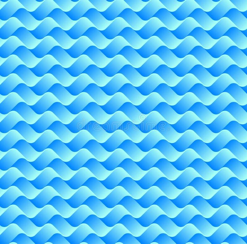Bleu fond vague de gradient abstrait de modèle de schéma illustration de vecteur
