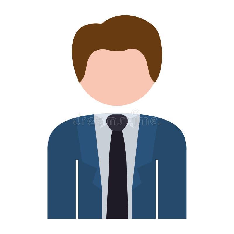 Bleu formel de costume de demi homme de corps illustration stock