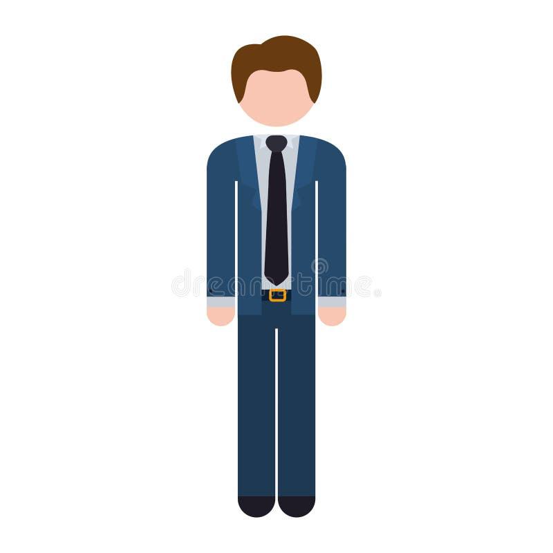 Bleu formel de costume de plein homme de corps illustration libre de droits