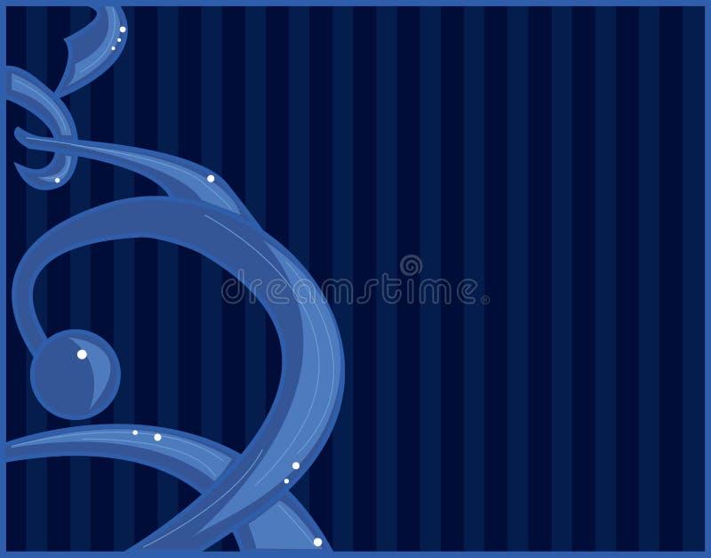 Bleu graffiti-comme l'abstrait illustration de vecteur